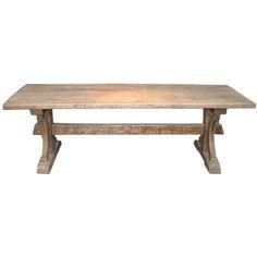 19th French Bleached Oak Farm Table