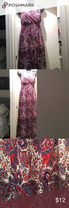 Halter top maxi Halter top with low c and winced waist. Backless. Forever 21 Dresses Maxi