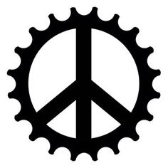 Bike cog Tattoo | Peace Cog Bicycle Temporary Tattoo
