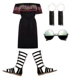 """""""Untitled #16"""" by punkie707 ❤ liked on Polyvore featuring Oasis, Dune, Bebe and Revo"""