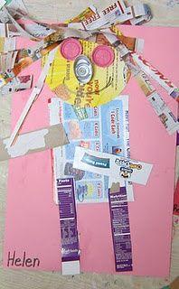 Recycled Garbage Art for Garbage Day! Meet Garbage Girl Gayle!