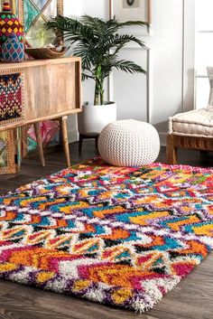 Home Decor Contemporary Rugs USA Multi Radiance Moroccan Collage rug - Bohemian Rectangle x Decor Contemporary Rugs USA Multi Radiance Moroccan Collage rug - Bohemian Rectangle x Shaggy Rug, Purple Area Rugs, Rugs Usa, Contemporary Rugs, Modern Rugs, Textiles, Cheap Home Decor, Bohemian Decor, Decoration