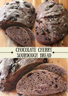 Chocolate Cherry Sourdough Bread! A recipe the whole family will love! ~CulturedFoodLife