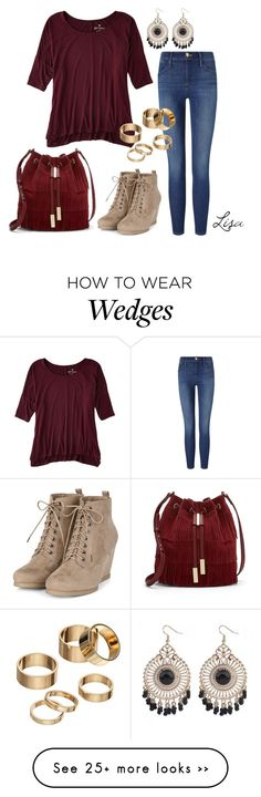 """September Welcome"" by coolmommy44 on Polyvore featuring American Eagle Outfitters, Frame Denim, Vince Camuto and Apt. 9"