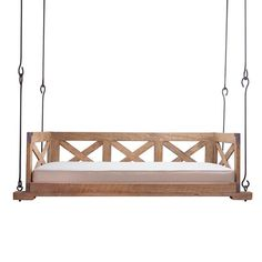 Relax on your porch in style with BOXHILL's X-Side Daybed Swing -- an easy-to-hang swing bed for your home; shop now at BOXHILL! Pergola Swing, Pergola Plans, Pergola Ideas, Cheap Pergola, Wisteria Pergola, Corner Pergola, Porch Bed, Country Bedding, Painting Wooden Furniture
