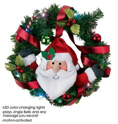 Avon: Recordable Light Up Holiday Wreath