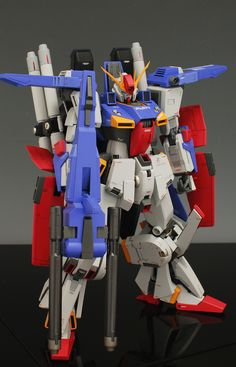 MG 1/100 MSZ-010 ZZ Gundam customized build by ghost   super clean build by the same modeler of the Z Gundam I posted yesterday.