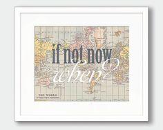 World Map Printable Art Nursery Art by thekismetprintpress on Etsy