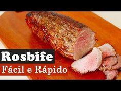 Rosbife - Fácil e rápido - YouTube Meatloaf, Barbecue, Steak, Food And Drink, Pork, Low Carb, Meals, Cooking, Desserts