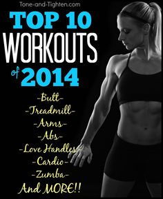 Top 10 Workouts of 2014 on Tone-and-Tighten.com - a website with FREE at home workouts!