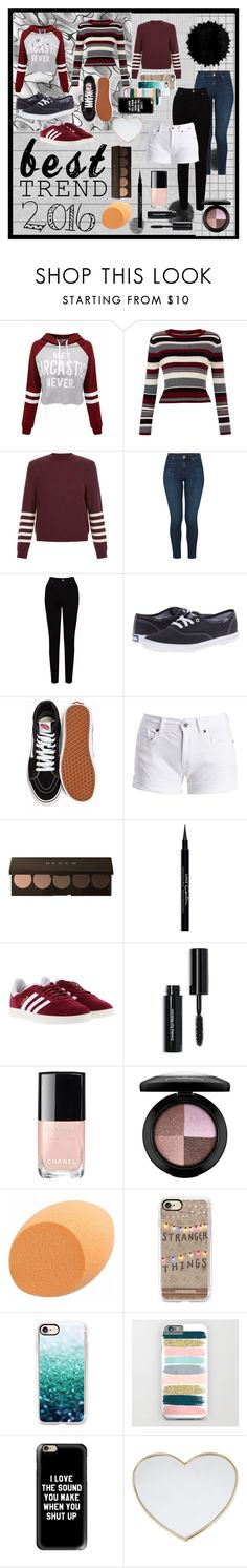 """""""Best trend 2016"""" by hildekbh ❤ liked on Polyvore featuring New Look, J Brand, EAST, Keds, Vans, Barbour International, Givenchy, adidas, Bobbi Brown Cosmetics and Chanel"""