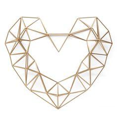 Gold Geo Heart