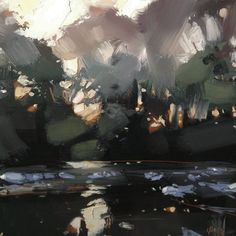 Landscaping Without Grass Landscape Artwork, Abstract Landscape Painting, Landscape Illustration, Abstract Trees, Nocturne, Devon, Tree Art, Land Scape, Painting Inspiration