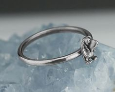 Basset Hound Ring Solid .925 Sterling Silver Basset Rings Custom Sizes