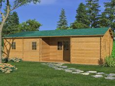 scheda casa CASETTA BUNGALOW in di LEGNO 70m2 68mm giardino arredamento esterno