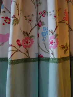 floral green cottage curtains  Kirsty Lockwood Furnishings