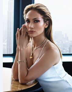 Jennifer Lopez, 46, looks young beyond her years as she showcases her timeless skin in her new Endless Jewelry campaign