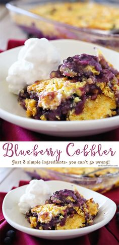 Blueberry Cobbler is