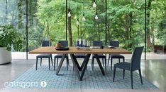 The stunning customisable Calligaris Cartesio Table is available to order in store.