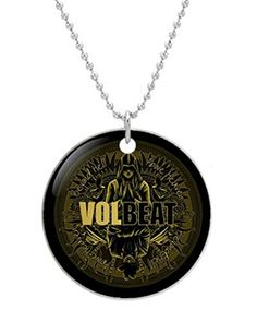 Volbeat Custom Fashion Cat  Round Dog Tag New ID Card Pet Tag ID Necklace 30 Adjustable Chain ** Check out this great product. (Note:Amazon affiliate link)