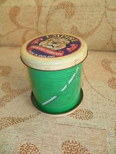 VINTAGE COTTON REEL TIN EMPIRE SEWING THREAD TIN - SILVER CRANE COMPANY