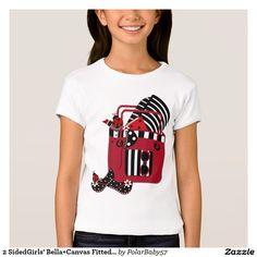 2 SidedGirls' Bella+Canvas Fitted Babydoll T-Shirt