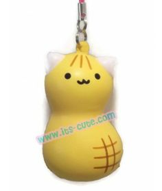 I Love Chiba Peanut Cat Squishy with Cellphone Strap!