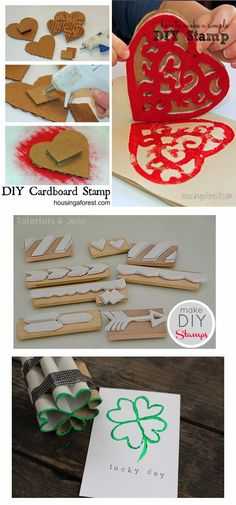 Frugal Family Fair: DIY Stamps Common Household Objects