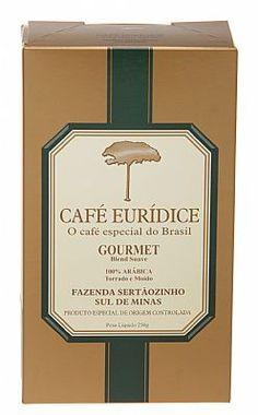 Café Eurídice Torrado e Moído 250g - Moagem para Coador