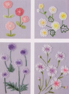 flower in my garden hand embroidery stitch sewing applique patchwork quilt PDF E Patterns