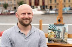 Sky Arts Landscape Artist of the Year Exclusive Heat Winners Interviews Millennium Bridge, Synthetic Brushes, Sky Art, Interview, Landscape, Artist, Scenery, Landscape Paintings, Corner Landscaping