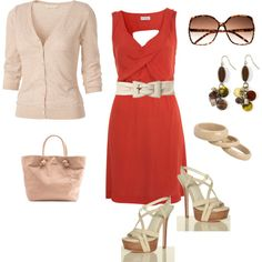 Red dress, created by krystal-kuhn on Polyvore