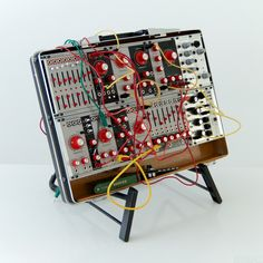 Verbos Composition Suitcase Eurorack synthesizer in a vintage case.