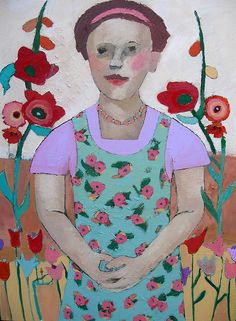 Martha in her Garden by Catriona Millar