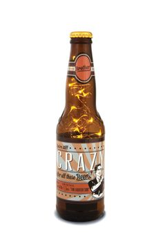 """You're still crazy after all these beers"" 16oz #beer bottle lantern - $14.99"