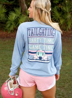 """NEW! """"Tailgating Party Time Before Game Time"""" - from our brand new JLB Huddle Up Collection! Available online at WWW.JADELYNNBROOKE.COM"""