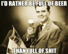Full of beer