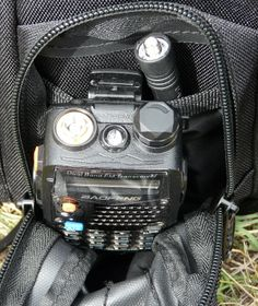 The Baofeng UV-5R series radios are a good addition to a Get Home Bag, and with the antenna detached can fit in a small pouch or pocket.