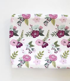 Changing Pad Cover - Fairy Tale Floral, Plum, Lavender, and Mint by ByGeorgeBabyBoutique on Etsy https://www.etsy.com/listing/478992336/changing-pad-cover-fairy-tale-floral