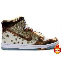 the latest efe42 ba5c3 Womens Nike Dunk Hi Skinny Soft Pearlmtllc Gold -Lmn Drp
