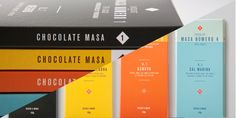 """In Masa, the product is the center of attention and that is what Siegenthaler & Coset out to do. Masa is a Columbian based chocolate  company that competes with many other chocolates in the Columbian  region.Focusing on simplicity and sophistication,Siegenthaler & Co createda bright and colorful package design that is straight forward and  beautiful.      """"In Masa, the product is the brand.This is what we want to communicate     as clear as possible leaving behind all unnecessary and…"""