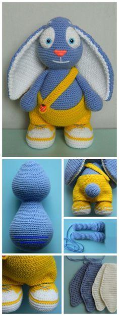 Bunny Amigurumi Step-by-Step Tutorial #amigurumi #amigurumipattern #crochet #tutorial #diy #handmade