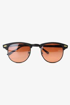 Vintage Blue Blocker Clubmaster Sunglasses - Black-Black #1145-2