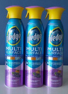 (3) Pledge Multi Surface Everyday Cleaner Lavender & Peach Blossom/9.7 oz each #Pledge