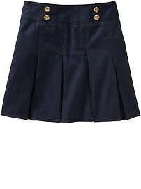 Very cute navy skirt.