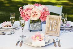 I love these wooden framed number signs for the tables! You can do this easy decor project with any colour or textured frame to make sure it fits in with your wedding decor/theme Reception Decorations, Wedding Centerpieces, Wedding Table, Diy Wedding, Dream Wedding, Wedding Ideas, Centrepieces, Centerpiece Ideas, Table Decorations