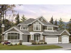 Floor Plans AFLFPW03553 - 2 Story Craftsman Home with 5 Bedrooms, 3 Bathrooms and 4,080 total Square Feet