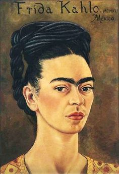 Self-portrait red gold dress, Autorretrato vestido rojo dorado, Frida Kahlo, C0322