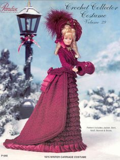 Barbie, Crochet Collector Costume Vol. 29 pattern: http://knits4kids.com/collection-en/library/album-view?aid=2111