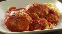 Chicken Cacciatore: stewed tomatoes, onion, garlic, gp, basil, seasoning.